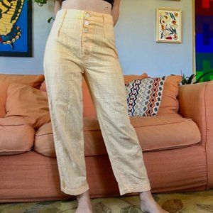 Urban Outfitters Button-Fly Pleated Trousers
